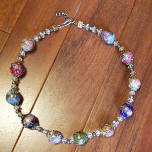Jewelry - Vintage glass bead necklace